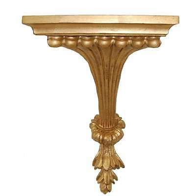 Hickory Manor Fluted Leaf Bracket/Gold Leaf - 6722GL