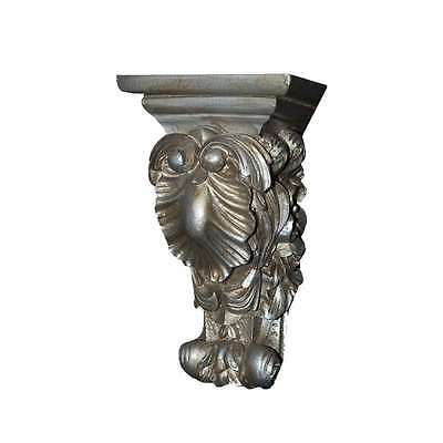 Hickory Manor Shell & Flowers Bracket/GUILT SILVER - ABR1019GS