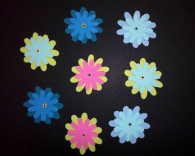 Beautiful Die-cut *FLOWERS* x  8 ...GREAT FOR SCRAPBOOKING/CARDMAKING
