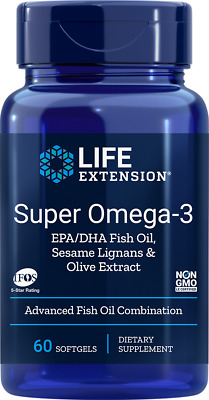 Super Omega 3 EPA DHA with Sesame Lignans and Olive Fruit Extract Life Extension