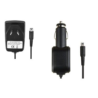 For Nintendo Dsi 3DS XL LL AU Wall Charger + Car Charger Adapter