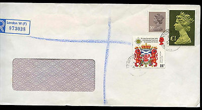 GB 1987 London Recorded Cover #C12373