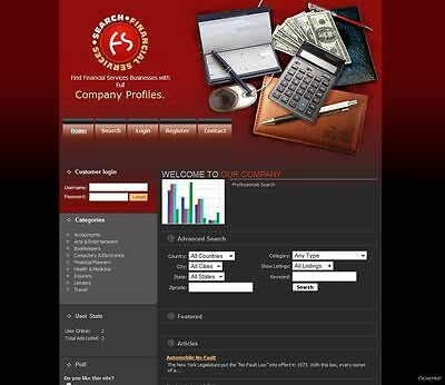 Financial Service Directory Website + Google Adsense. Make Money From Home.