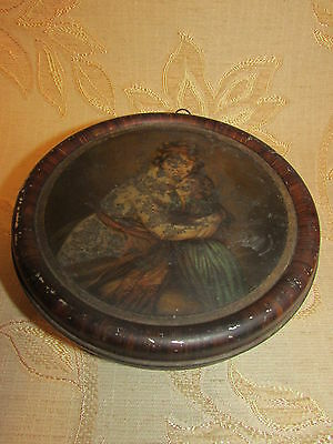 Antique Collectable Mother And Child By RownTree Tin