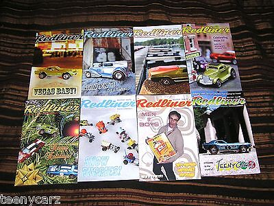 """Hot Wheels Redline MAGAZINE by COWBUC33 """"The Redliner"""" ISSUES 7-14 8 ISSUE DEAL!"""
