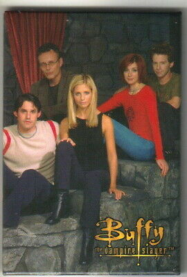 Buffy The Vampire Slayer Scooby Gang 2 x 3 Photo Refrigerator Magnet NEW UNUSED