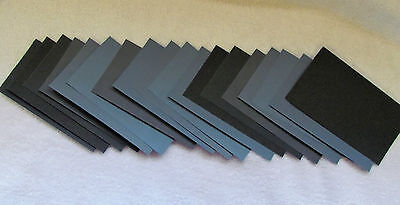 "Sandpaper Wet Dry 63 pc, 3"" X 5 1/2""  400 600 800 1000 1200 1500 2000 grit"