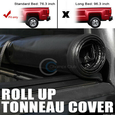"""Roll-Up Soft Tonneau Cover 09-15 16 Dodge Ram 1500/2500/3500 6.5 Ft 76"""" Cab Bed"""