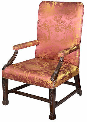 SWC-Chippendale/George II Carved Mahogany Armchair with Marlboro Legs, c.1780