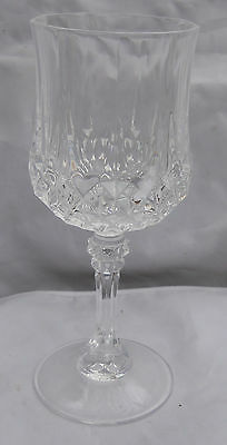 Cristal D'arques/durand Longchamp Water Goblets 6 Glass Pedestal Crystal