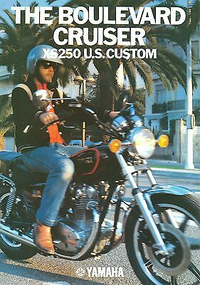 1980 YAMAHA XS250 US CUSTOM brochure (issued by Yamaha Netherlands in English)