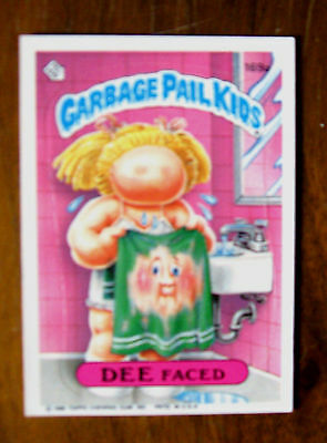 Garbage Pail Kids Card DEE FACED Series 5 #169a RARE VINTAGE 1986 Topps Sticker
