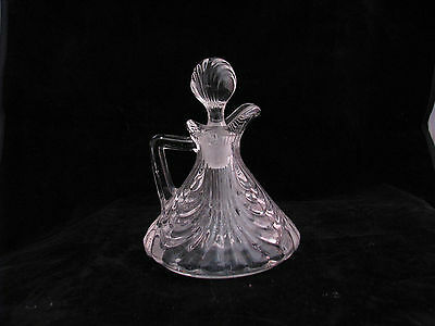 """Cambridge Caprice Clear / Crystal Cruet # 117 with Stopper 4 3/4"""" 3 oz."""