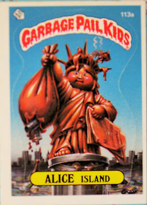 Garbage Pail Kids Card ALICE ISLAND 3rd Series #113a RARE 1986 Topps Chewing Gum