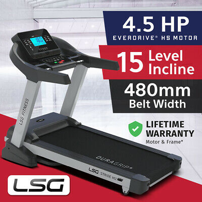 Lifespan Fitness LSG NEW Wide 480mm Belt Electric Treadmill 3.5CHP Motor
