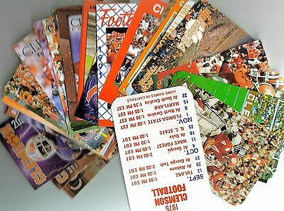 CLEMSON TIGERS FOOTBALL SCHEDULES 1975-2014 (44 DIFFERENT, SPILLER, PERRY, BOYD+