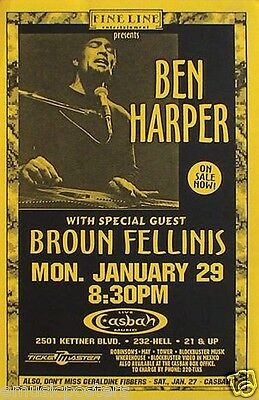"Ben Harper ""fight For Your Mind Tour"" San Diego Concert Poster"