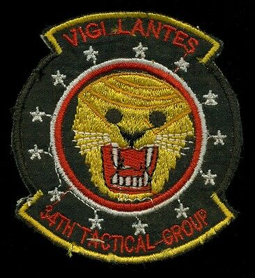 USAF 34th Tactical Group F-4 Theater Made Vietnam Patch