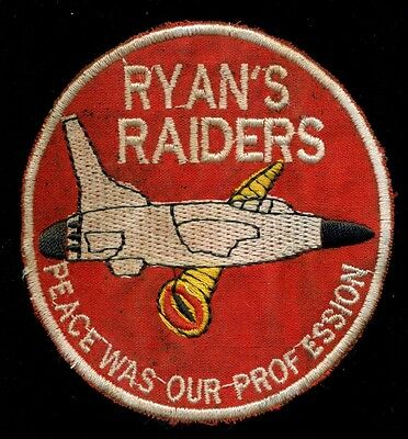 USAF 34th Tactical Fighter SQ F-105 Thunderchief Ryan's Raiders Vietnam Patch D2