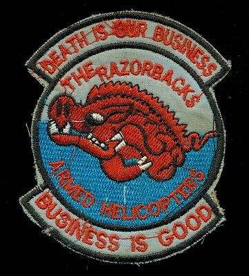 US Army 120th Assault Helicopter Company Razorbacks Theater Made Vietnam Patch