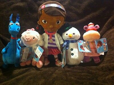 Doc Mcstuffins Plush Doll Disney Lambie Hallie Stuffy and Chilly NEW Lot Set