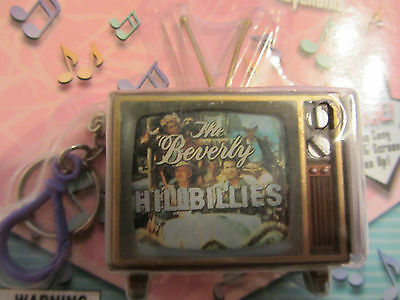RARE 1999 BEVERLY HILLBILLIES TALKING TELEVISION KEYCHAIN PLAYS THEME SONG LIGHT