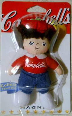 """Campbell's Kids Doll Magnet 4"""" NIP 2002 Campbell Soup A. Aronson"""