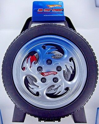 HOT WHEELS 30 Car Rally CASE 1/64 Scale Vehicle Storage Portable Wheel Tire NEW