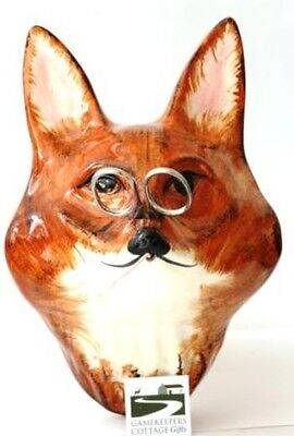 Fox Mask Face Babbacombe Pottery China String Holder Hand Painted Hunting Gift