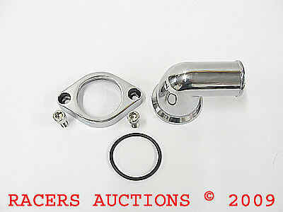 Small or Big Block Chevy Polished Aluminum Water Neck 90 Degree Swivel Housing