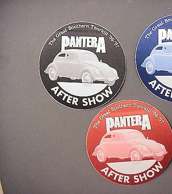 Pantera backstage passes AUTHENTIC 2 Great Southern Tourkill 96-97 black & red