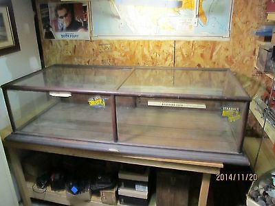 Old Wooden Columbia Showcase Company Table Top Showcase