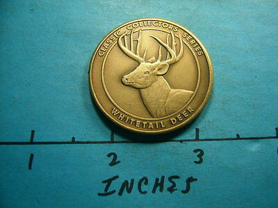 Whitetail Deer National Rife Association Collectors Series Bronze Coin Nice X5