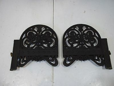 "Antique Cast Iron Shelf Brackets Left and Right for 6 1/2"" X 3/4"" shelf Vintage"