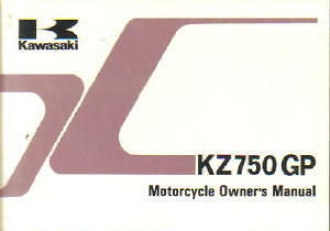 Kawasaki KZ750R1 GPz Motorcycle Owners Manual 1982 - 800-426-4214
