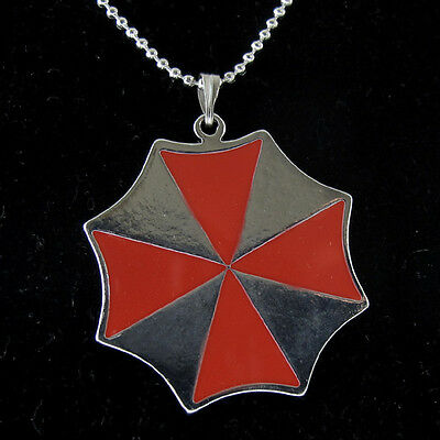 Hot Resident Evil Stainless Steel Umbrella Style Chain Pendant Necklace @