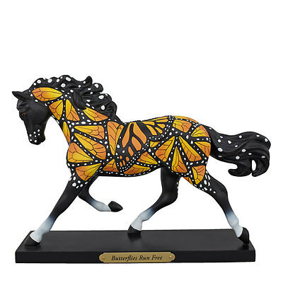 Enesco Trail of Painted Ponies Butterflies Run Free Horse Figurine