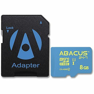 8GB microSD microSDHC Memory Card with SD Adapter for BLU Smartphone Cell Phone