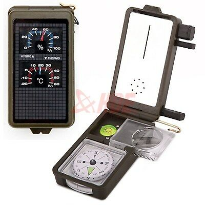 Multifunction 10 in 1 Outdoor Military Camping Hiking Survival Tool Compass Kit