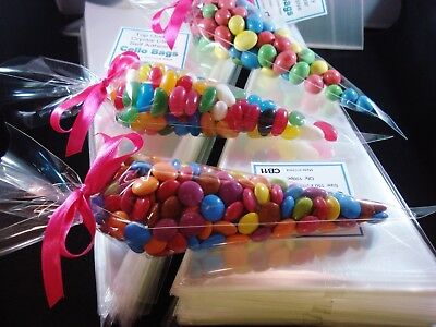 1000 Clear Cello Cone Bags Lollies Party Favours Lolly Candy Favour FREE POSTAGE