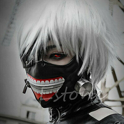 Cosplay Tokyo Ghoul Kaneki Ken Adjustable Zipper Belt Halloween Party  Prop Mask