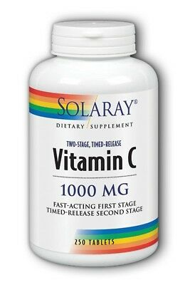 Vitamin C 1000mg Two Stage Time Release Solaray 250 Tabs