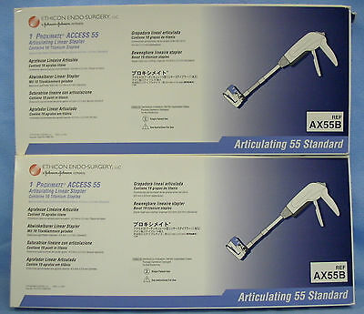 2 Surgical Articulating Linear Staplers #AX55B
