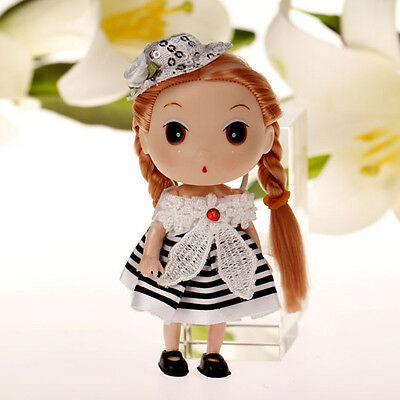 Cute White Cap Korea Ddung Doll Cell Phone Backpack Keychain Girls Gift 12CM A14