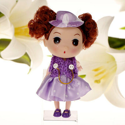Cool Purple Skirt Korea Ddung Doll Cell Phone Backpack Keychain Gift 12CM A36