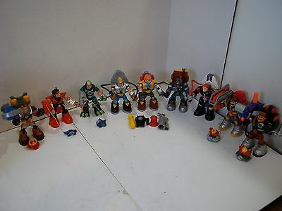FISHER PRICE RESCUE HEROES 9 Figures all Accessorized 26 Total Pieces Mixed