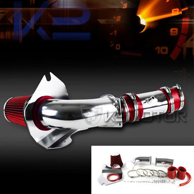 Ford 94-95 Mustang GT GTS 5.0L V8 Cold Air Intake Red High Flow Filter Kit