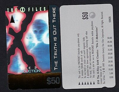 Pacificnet Australia $50 Phonecard MINT Condition Limited Edition X Files File3