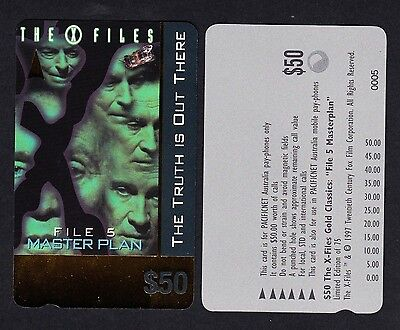 Pacificnet Australia $50 Phonecard MINT Condition Limited Edition X Files File5