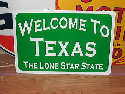WELCOME to TEXAS Metal Sign Man Cave Prop Ice House Bar The Lone Star State